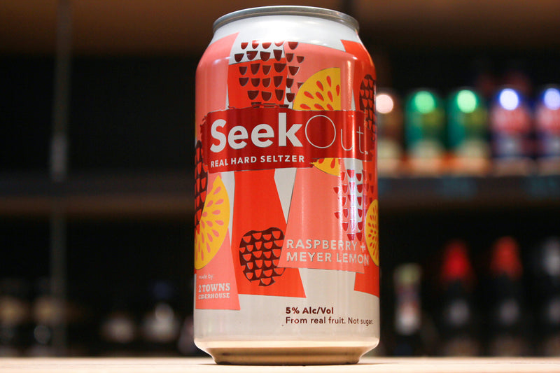 SeekOut Hard Seltzer- Raspberry + Meyer Lemon