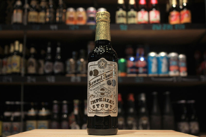 samuel smith brewery yorkshire oldest brewery imperial stout best barley malt, roasted barley, yeast and hops to create a rich flavorful ale; deep chocolate on color with a roasted barley nose and flavor that is a complexity of malt, hops, and yeast.