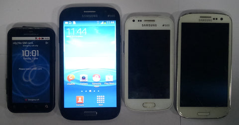 Combo of Used Samsung Galaxy S Duos(S7562) + Samsung Galaxy S3 Neo(GT-I9300I) + Galaxy Grand (GT-i9082) + Motorola touch