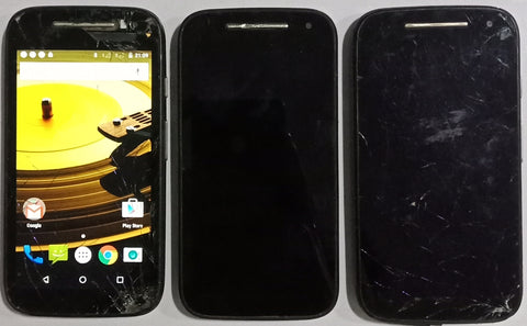 Combo of 3 Used Motorola Moto E 2nd Generation Mobiles