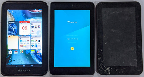Combo of Used Lenovo Idea Tab A1000 + Asus Nexus Tab+ Dead DEVANTE Tab (Tablets)