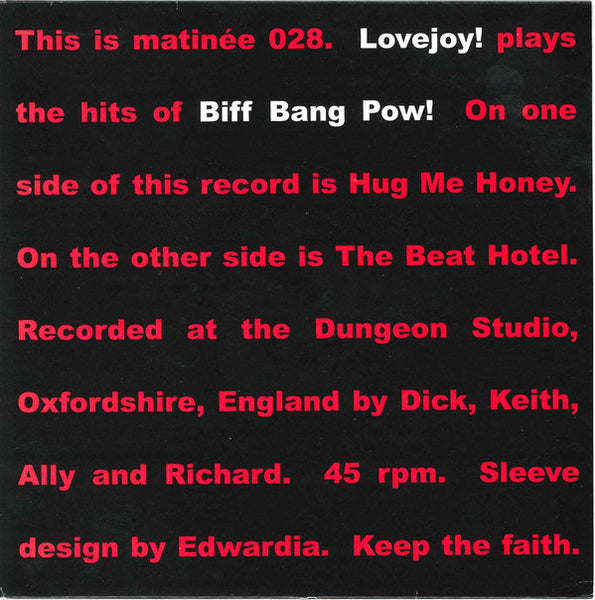 Lovejoy - Plays Biff Bang Pow
