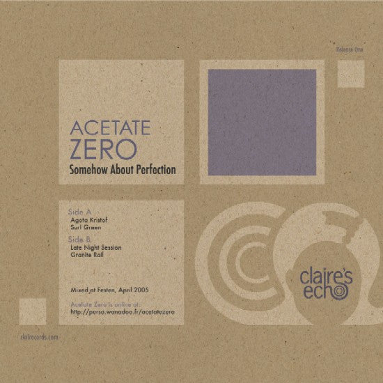 Acetate Zero - Somehow About Perfection