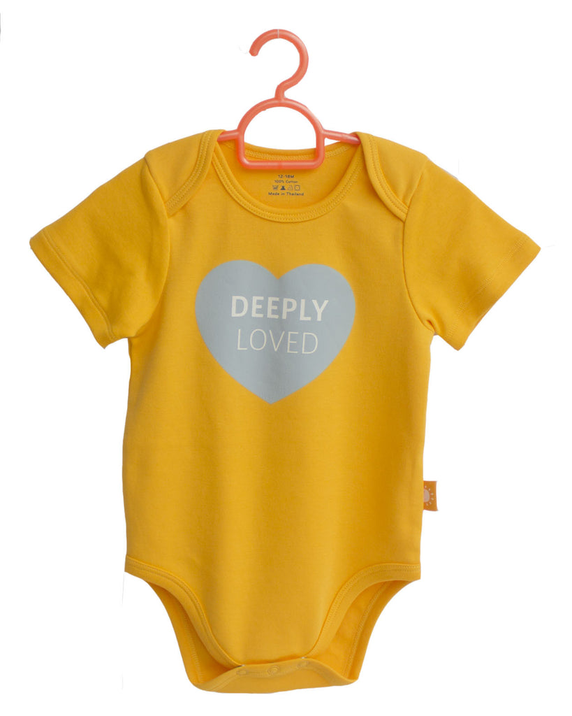 8595a007f Deeply Loved! 100% cotton baby onesies by Glorious Seed - Sowing ...