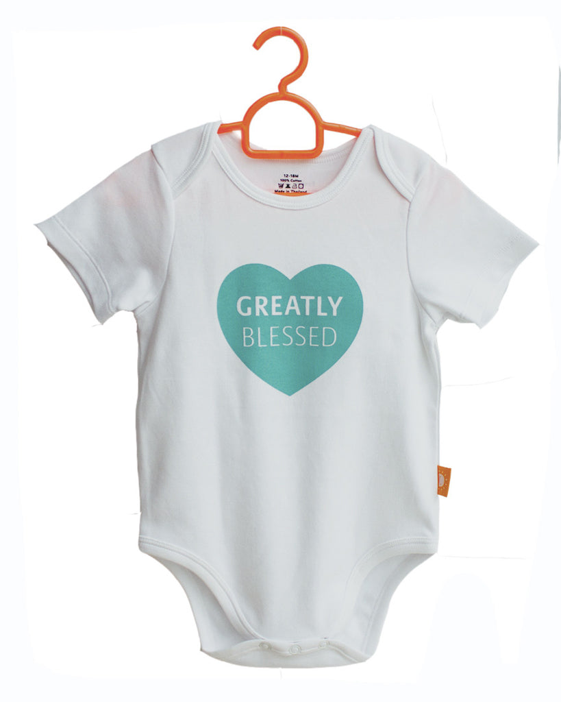 Greatly Blessed onesies for babies by Glorious Seed your source of Christian inspired baby and children clothes