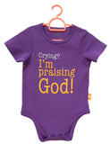 Praising God baby romper by Glorious Seed your source of Christian inspired baby clothes