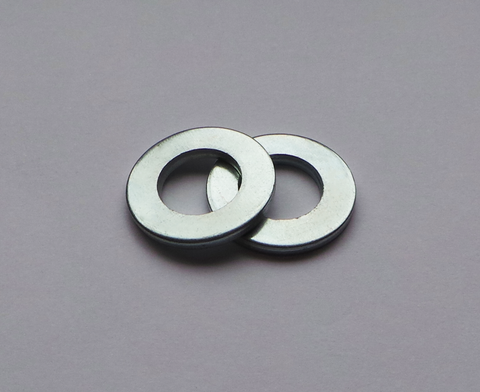 M6 Bright Zinc Plated Steel Flat Washer (100)