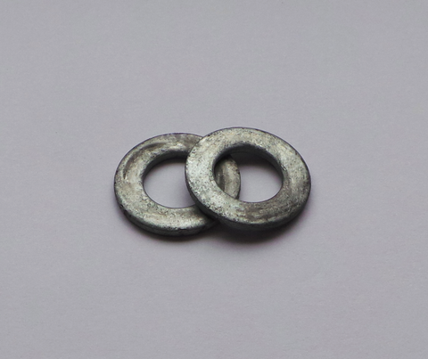 M8 Hot Spun Galvanised Steel Flat Washer (100)