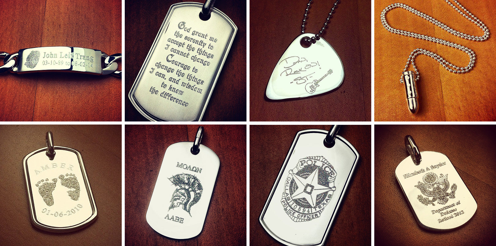 Custom Engraved Men's Necklaces