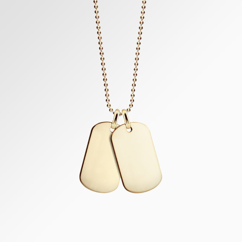 Men's 14k Gold Dog Tags