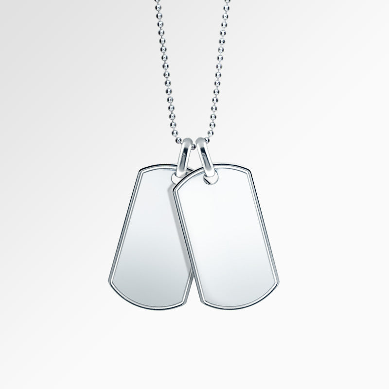 Men's Sterling Silver Dog Tags