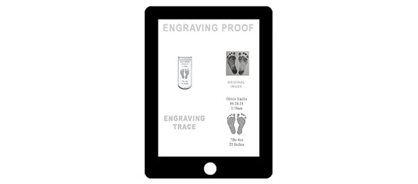Review an email of your engraving proof