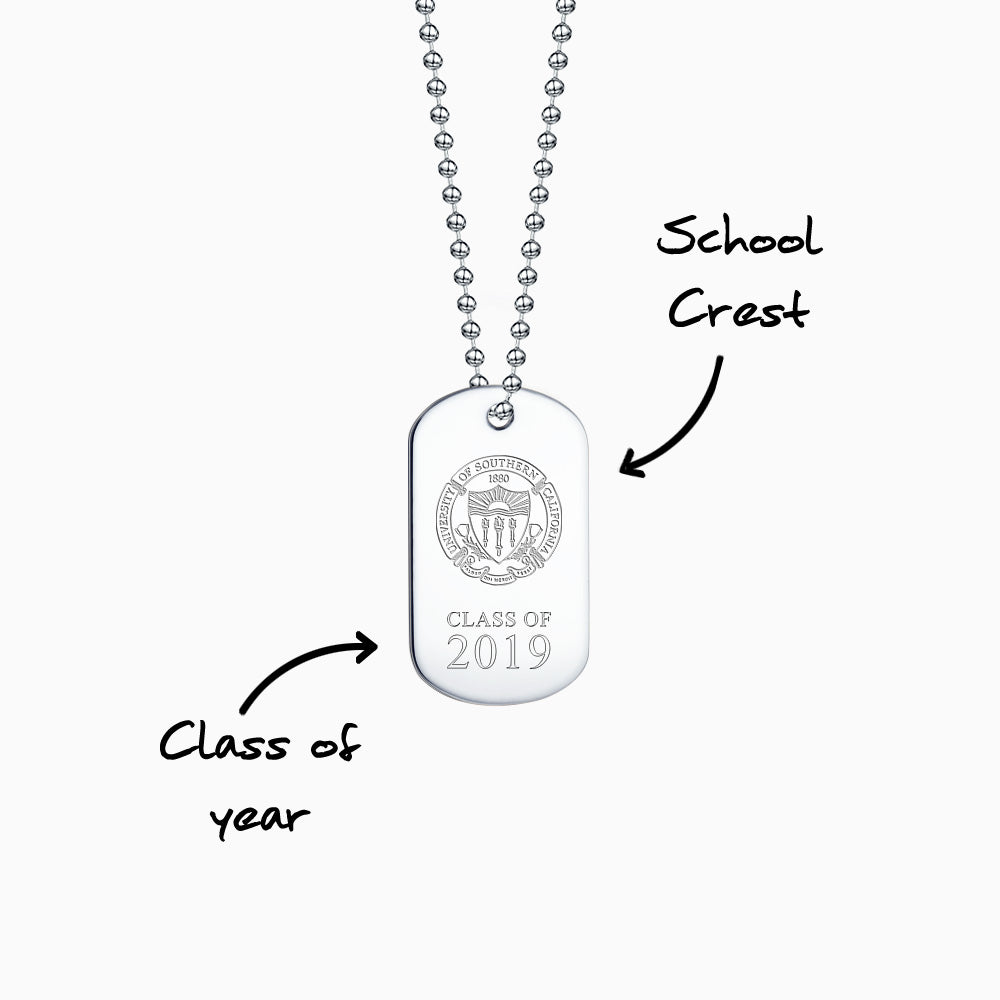 Engrave school logo and graduation class year