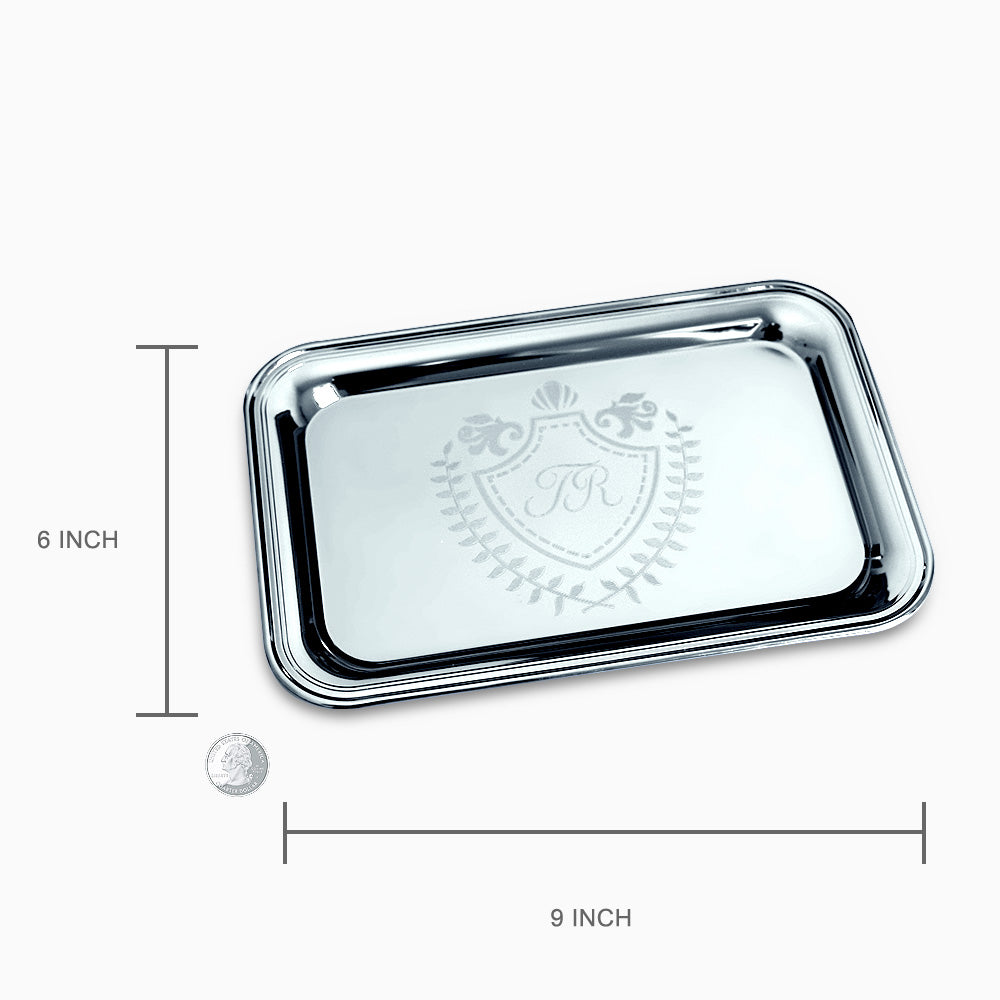 Top Classic Rectangle Silver Tray (Engravable) - Sandy Steven Engravers KE98