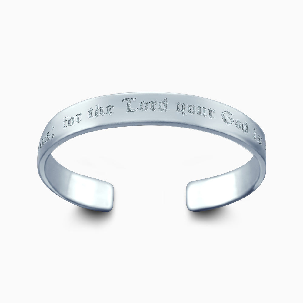 eb7292288db ... Men's Sterling Silver Cuff Bracelet, 10 mm - Custom Engraved with Bible  Verse ...