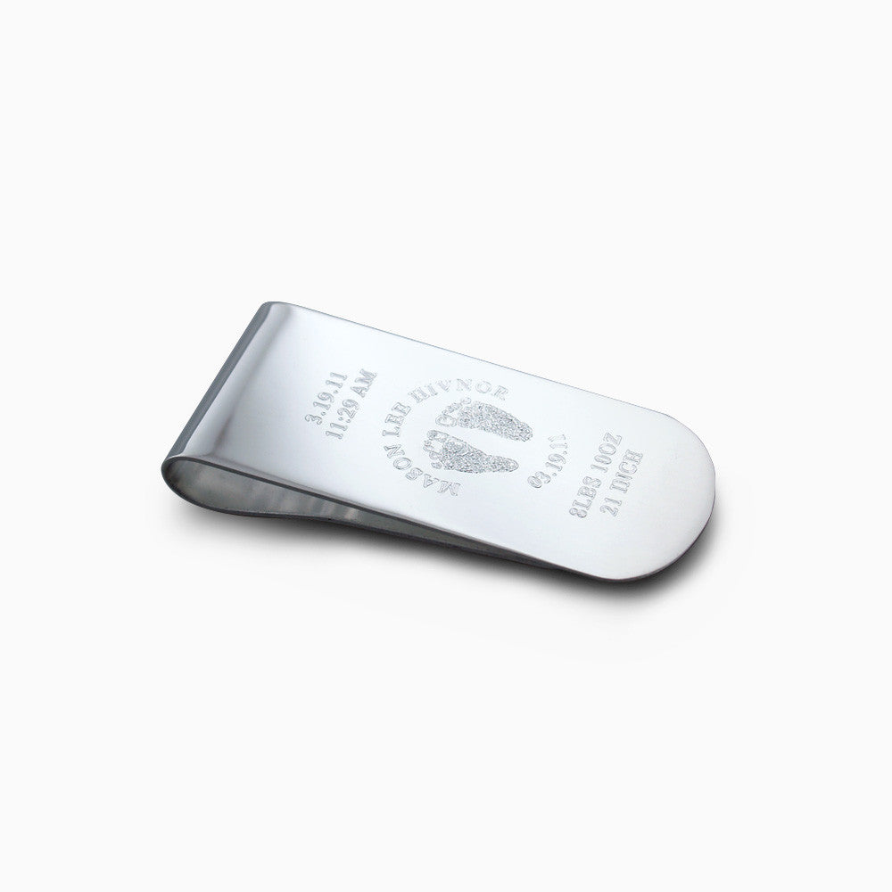 Sterling Silver Smooth Edge Money Clip (Engravable)
