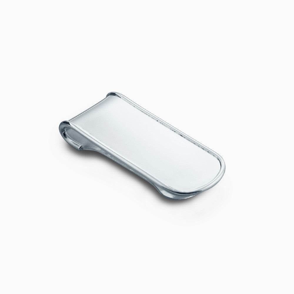 Sterling Silver Raised Edge Money Clip (Engravable)