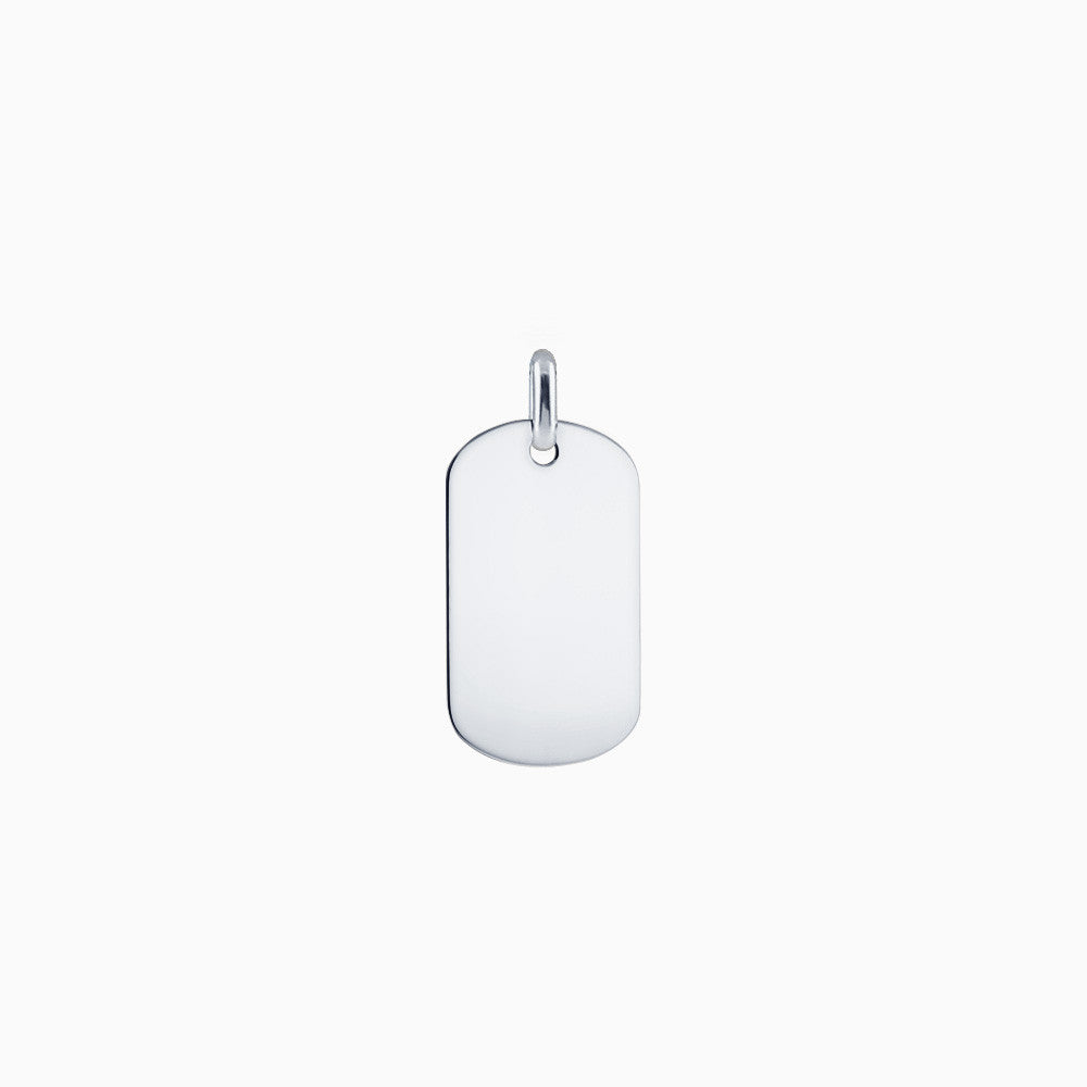 Men's Sterling Silver Flat Edge Dog Tag - Engravable