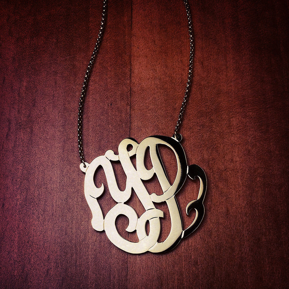 1 25 inch  14k gold 2-initial cutout monogram necklace