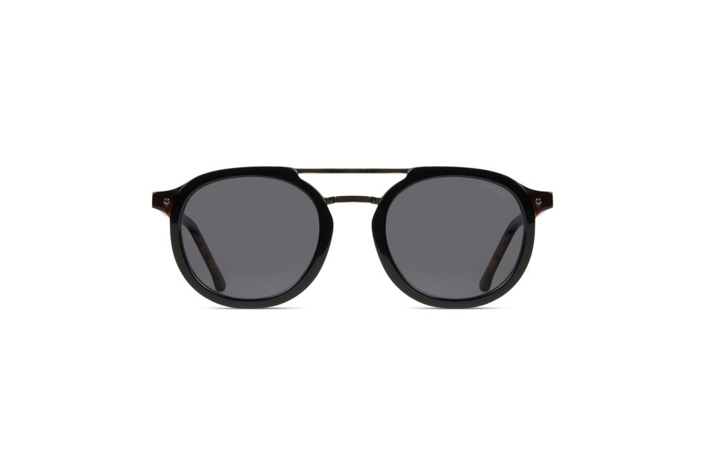 The Gilles Acetate Black/Tortoise
