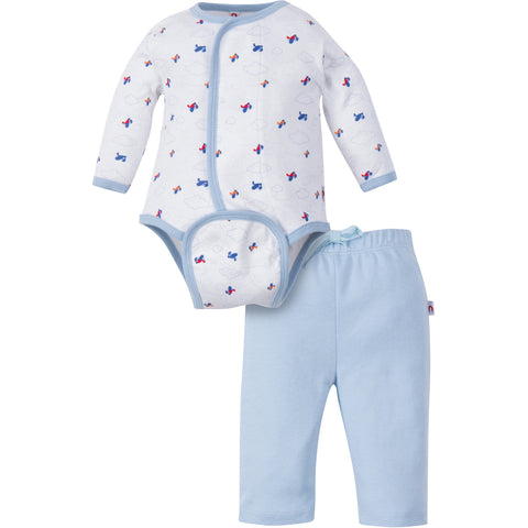 Boy Aeroplane Bodysuit Set