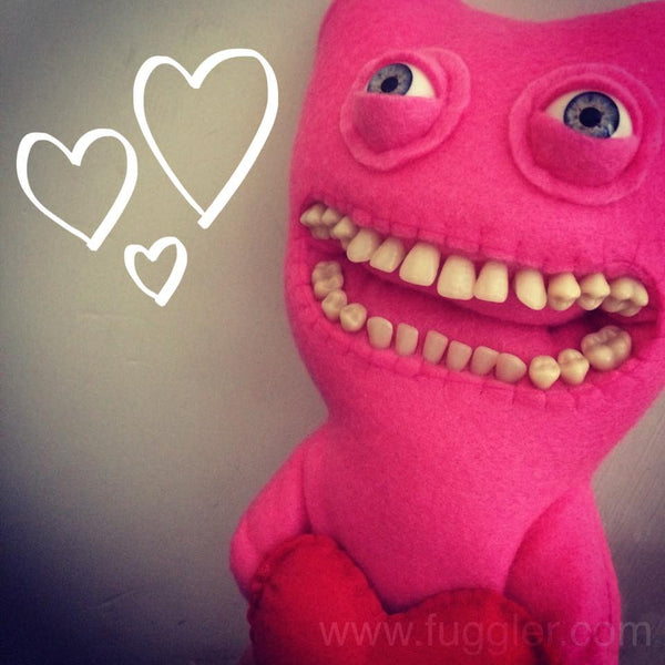 Custom Loved Up Fuggler - MADE TO ORDER. 25 cm tall.