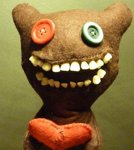 "PLEASE READ LISTING ""Mr Buttons"" romantic custom Fuggler™ 25 cm tall - MADE TO ORDER"
