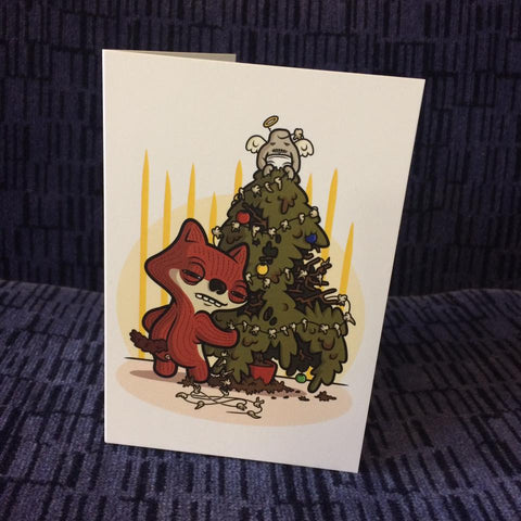 Suspicious Fox Fuggler™ Christmas Card A6 - artist Stephen Waller