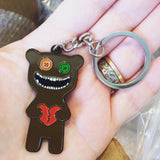 Mr Buttons Fuggler Enamel Keyring - 50mm