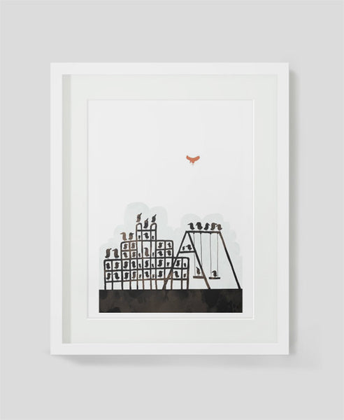 Framed art print Birds by Alex Latimer