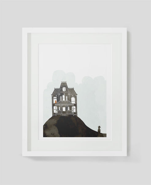 Framed art print Psycho by Alex Latimer
