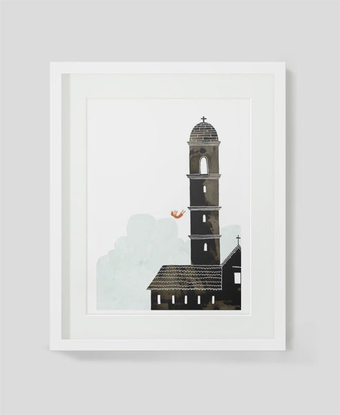 Art print Vertigo by Alex Latimer framed
