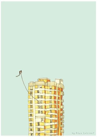 Art print by Alex Latimer entitled Kite.