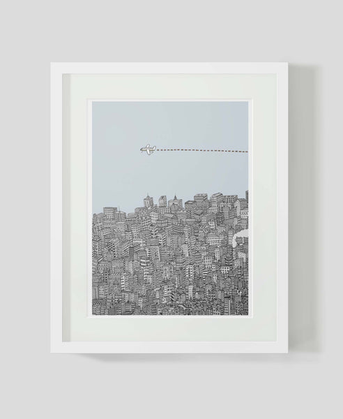 Framed art print Leaving the City by Alex Latimer