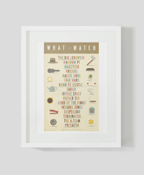 Framed art print What to Watch by Alex Latimer