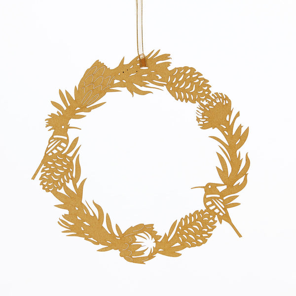 Exquisite and delicate paper cut outs Christmas Wreath decoration by Artymiss