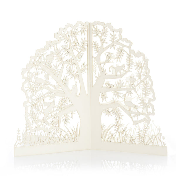 Exquisite and delicate paper African Three Dimensional Fold Out Tree by Artymiss