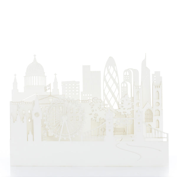 Exquisite and delicate paper cut cards, London by Artymiss