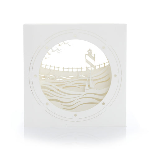 Exquisite and delicate paper sculpture Porthole by Artymiss