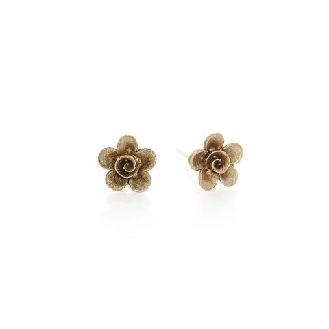 Brass Flower Studs