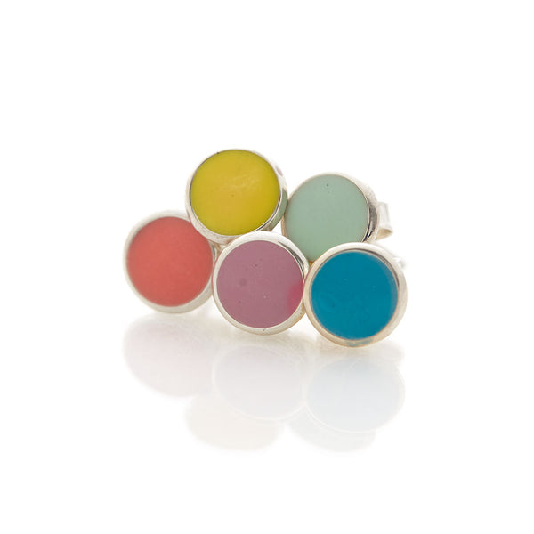 Limited Edition Enamel Studs by Long Jean Silver