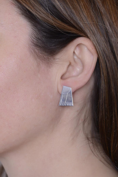 Silver Ceca Ray Studs by Long Jean Silver styled