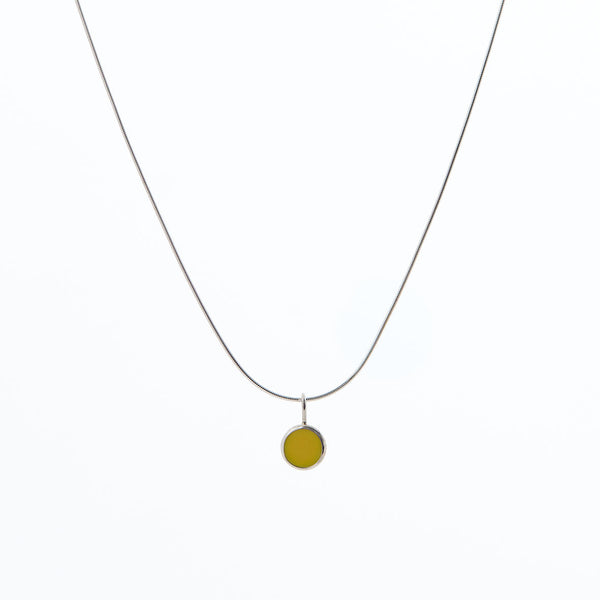 Limited Edition Daisy Yellow Enamel Pendant Necklace by Long Jean Silver