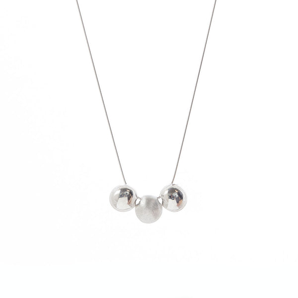 Two Tone Three Sphere Necklace