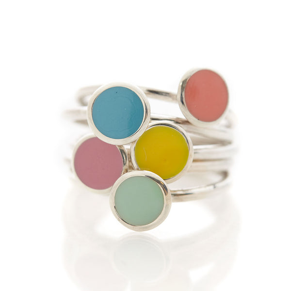Limited Edition Enamel Rings by Long Jean Silver