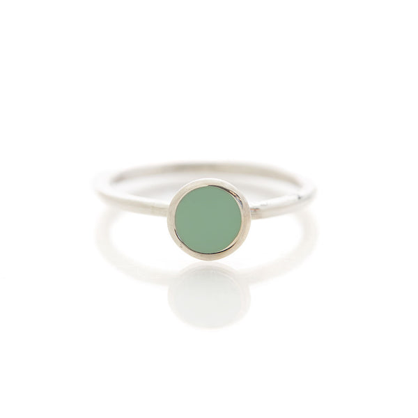 Limited Edition Bay Water Turquoise Enamel Ring by Long Jean Silver