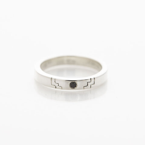 Silver Ceca Step Ring by Long Jean Silver