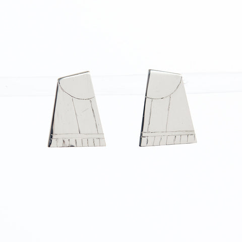 Silver Ceca Ray Studs by Long Jean Silver
