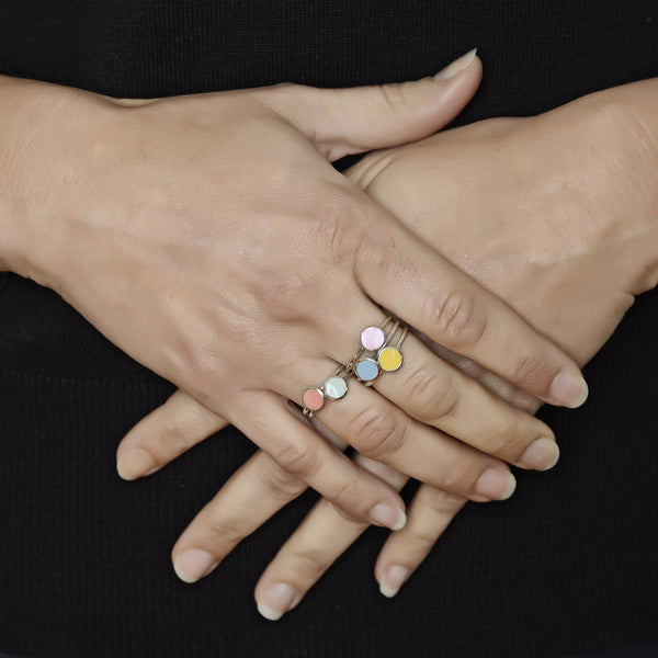 Limited Edition Enamel Rings by Long Jean Silver styled
