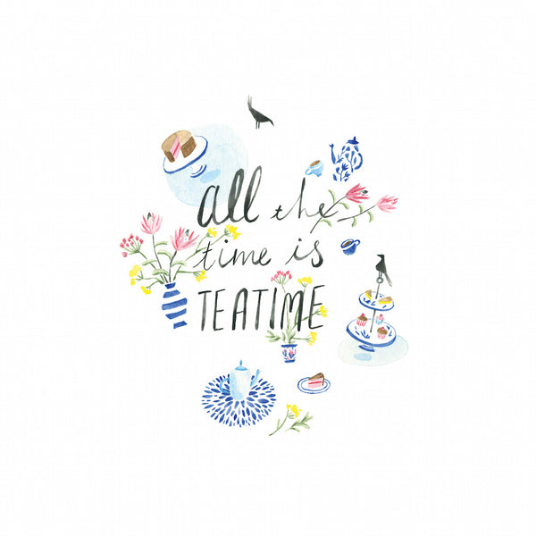 Limited Edition Art print by Maria Lebedeva entitled All The Time is Tea Time